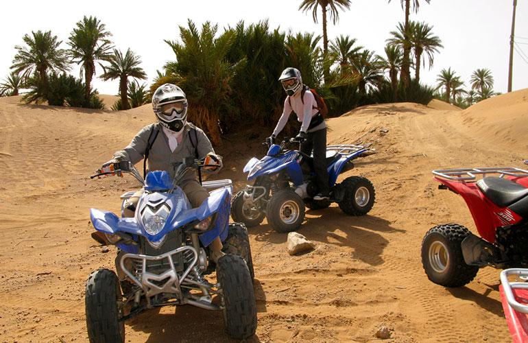 Tour en quad por el palmeral y el desierto de Marrakech